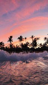 atardecer en la playa fondo de pantalla